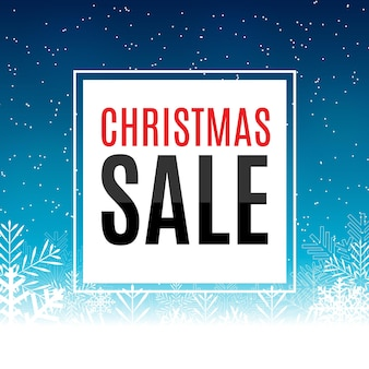 Christmas and new year sale background discount coupon template vector illustration