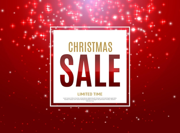 Christmas and new year sale background discount coupon template