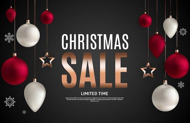 Christmas and new year sale background