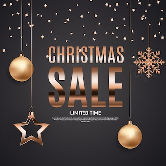 Christmas and new year sale banner
