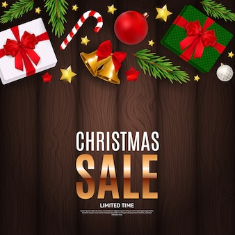 Christmas and new year sale gift banner