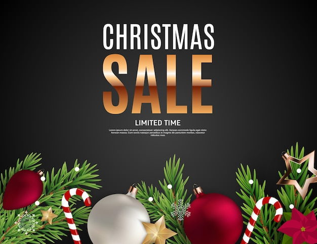 Christmas and new year sale gift voucher, discount coupon