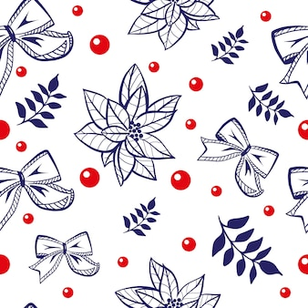 Christmas and new year seamless pattern. winter holidays theme.