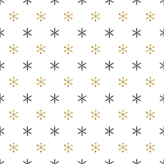 雪のクリスマス新年シームレスパターン。