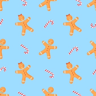 Christmas and new year seamless pattern Premium Vector