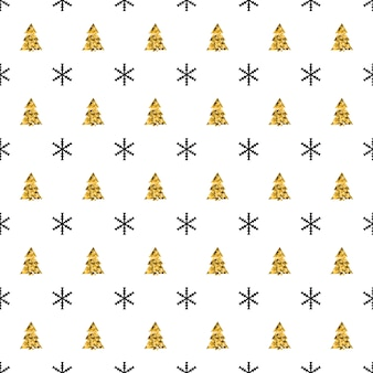 Christmas new year seamless pattern