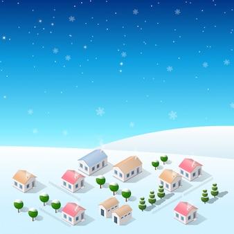 Christmas new year snow