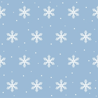 Christmas and new year snowflake seamless pattern. snow digital paper