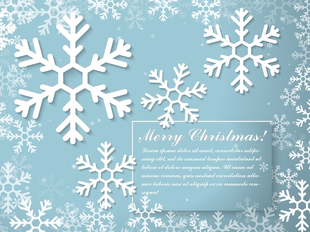 Christmas and new year typographical greeting card template