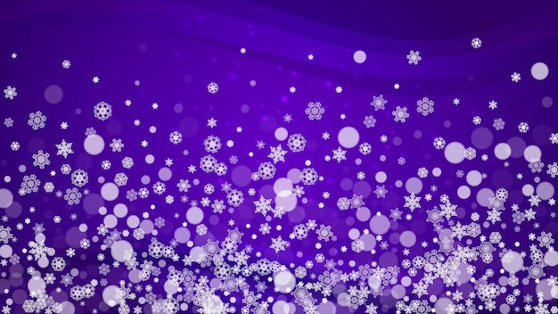 Christmas and new year ultra violet snowflakes