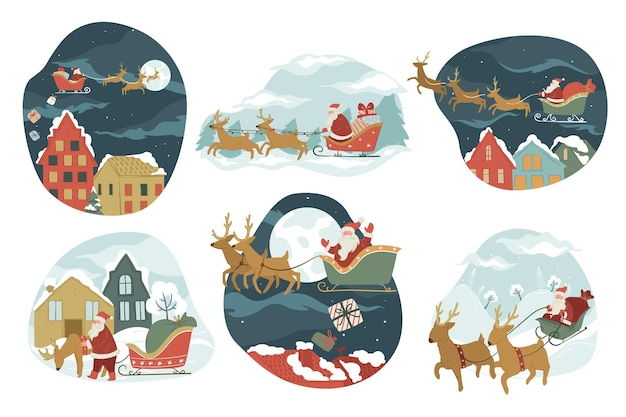 Christmas and new year winter holidays celebration