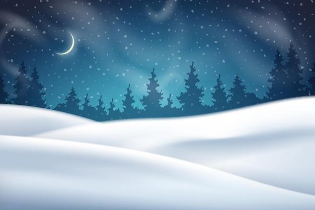 クリスマスの夜の冬の背景