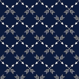 Christmas nordic pattern with arrows vector illustration
