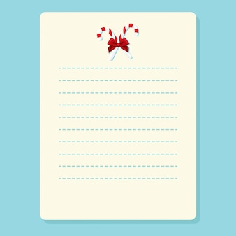 Christmas notebook page template  cards notes