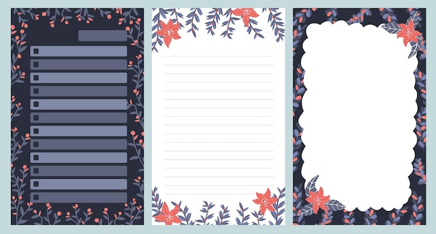 Christmas notepad note journal postcards pattern cute sticker