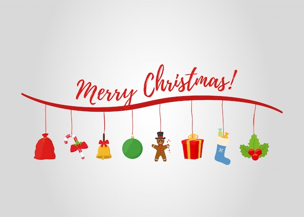 Рождественские объекты для рекламного плаката, рекламного баннера или продажи