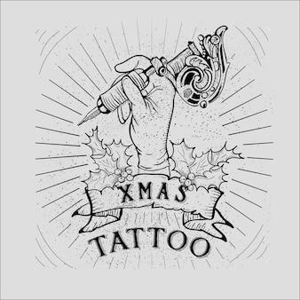 Рождественское предложение рождественское тату-акция - коллекция vintage christmas skull