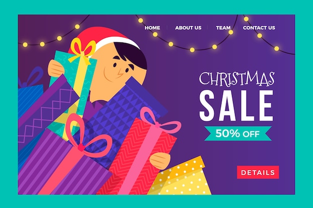 Christmas offer landing page template