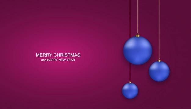 クリスマスや幸せな新年のグリーティングカード