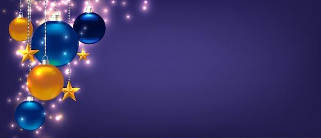 크리스마스 또는 새 해 파란색 배경