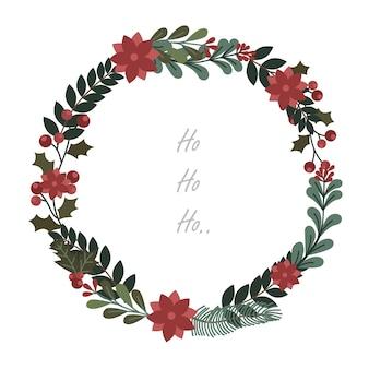 クリスマスの飾りとフレーム