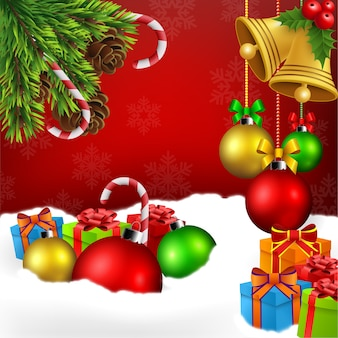 Christmas ornament background