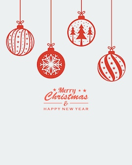 Christmas ornament hanging red isolated background vector