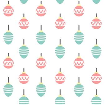 Christmas Ornament Seamless Pattern Background