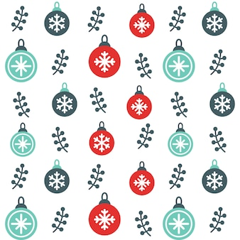 Christmas Ornament snow Seamless Pattern Background