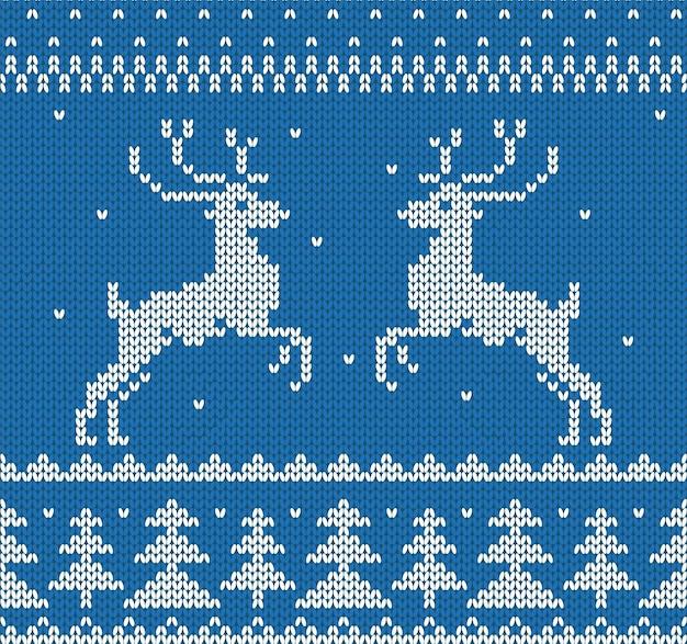 크리스마스 장식입니다. deers.vector 일러스트와 함께 스웨터