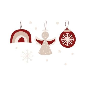 クリスマスオーナメントのデザイン。ベクトルイラスト。