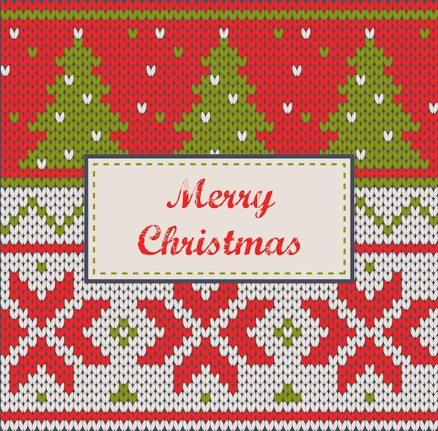 クリスマスオーナメント-ニットセーター、グリーティングカード