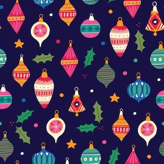 Christmas ornaments - seamless pattern