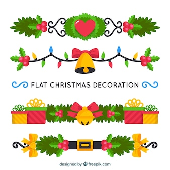 Christmas ornaments with flat design