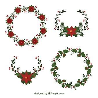 꽃 스타일으로 크리스마스 장식품