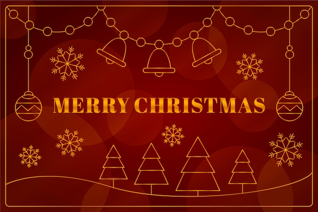 Christmas in outline style background