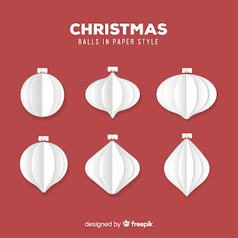 Christmas paper white ball collection