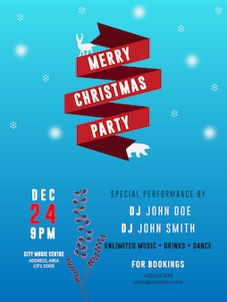 Christmas party banner flyer store