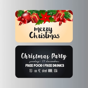 Christmas party banner template
