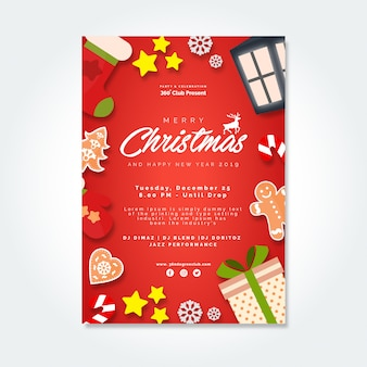 Christmas party brochure with gifts