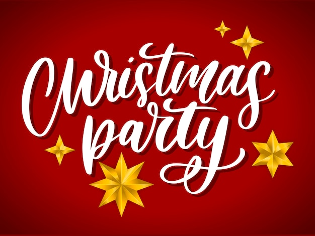 Christmas party card template.