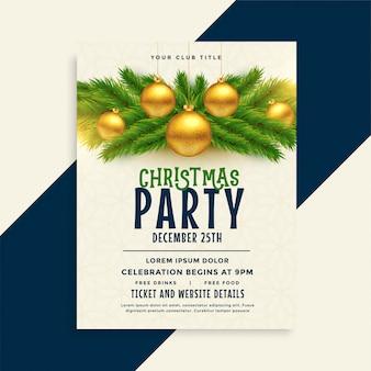Christmas party celebration flyer template