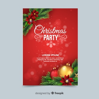 Christmas party corner decoration poster template