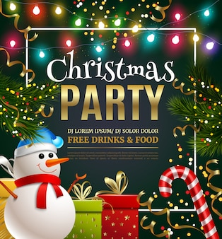 Christmas party festive template