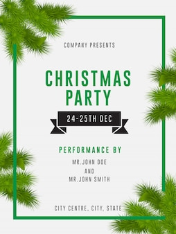 Christmas party flyer ad banner