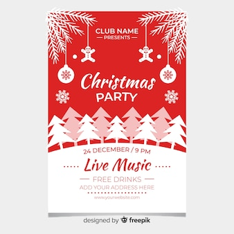 Christmas party flyer temlate