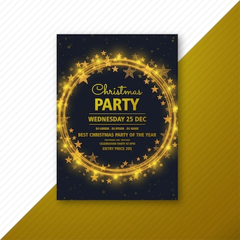 Christmas party flyer  template card brochure