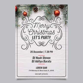 Christmas party flyer with photo