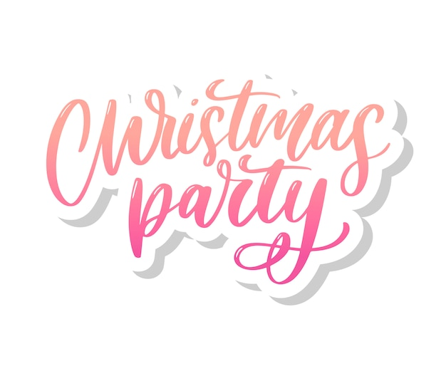 Christmas party gradient lettering