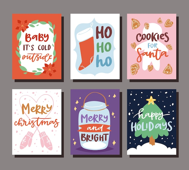 ノエルクリスマス休暇のお祝いクリップアート新年サンタクロース印刷可能なポスターの背景のクリスマスパーティー招待状カードテンプレート